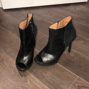 Bcbg open toe booties never worn